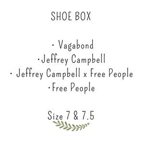 Show box , Jeffrey Campbell Free people
